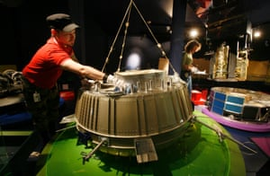 A full-size model of Huygens at London's Science Museum.