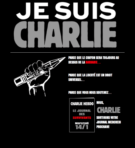 Message posted on the Charlie Hebdo website saying it will publish 'Le journal des survivants' on Wednesday