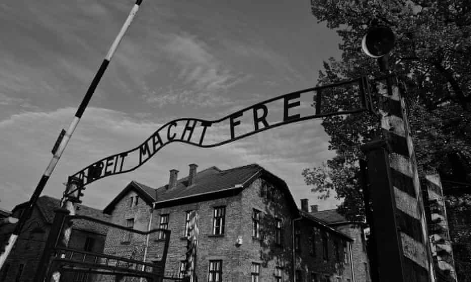 The entrance to Auschwitz.