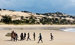 Surfing in Mozambique