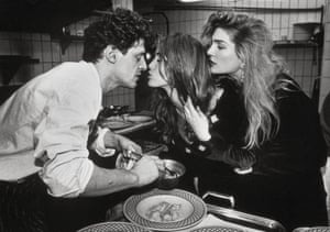 Marco Pierre White greets diners in his restaurant, Harveys,  in Wandsworth, London, 1990.