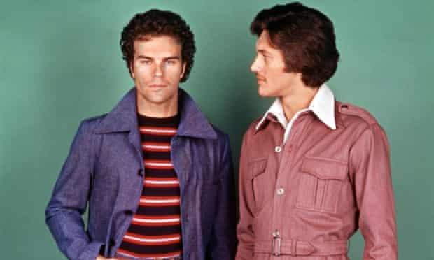 Pair of male models posing