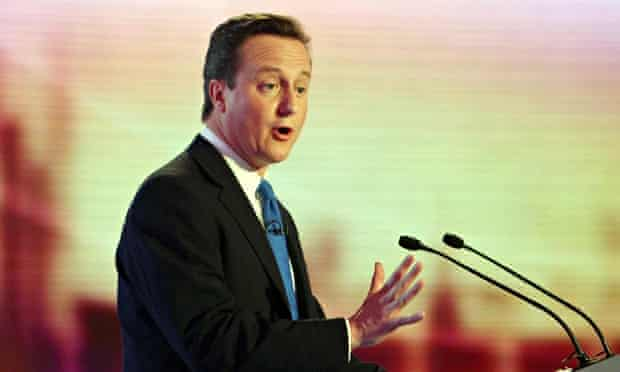 David Cameron during an election debate in 2010. The prime minister indicated he would not take part
