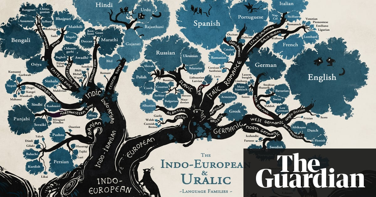 A Language Family Tree In Pictures Education The Guardian - Root languages of the world