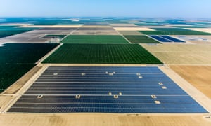 Westlands Solar Park is 20 mw solar farm constructed on brownfield land near Interstate 5 in Fresno County in the Central Valley of California. It is built on unusable former agriculture land due to excess salt pollution.
