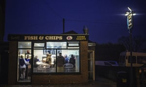 Gaskell's Fish and Chip shop in Wigan.