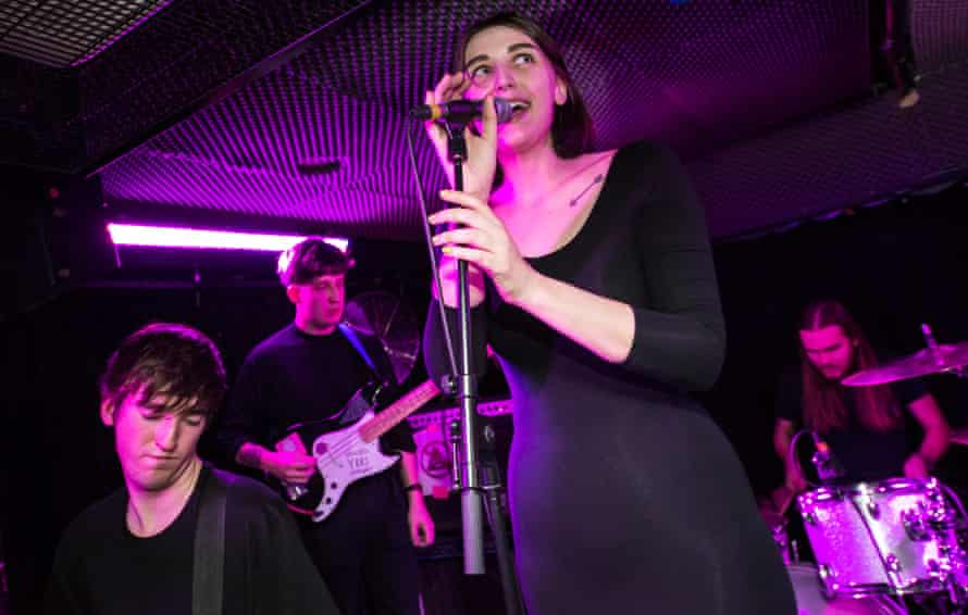 Alanna McArdle fronting Joanna Gruesome at Power Lunches: 'She can coo and croon one minute and spew bile the next.'