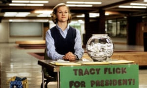 Reese Witherspoon as Tracy Flick in the 1999 film Election