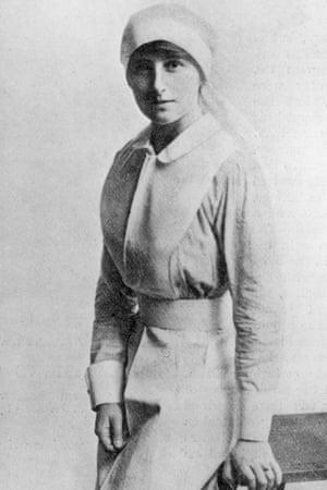 Vera Brittain as a nurse in the first world war.
