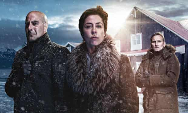 Stanley Tucci, Sofie Grabol and Christopher Ecclestone in the Arctic thriller Fortitude.