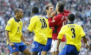 Ruud van Nistelrooy misses a penalty at Old Trafford in September 2003, and Martin Keown goes berserk.