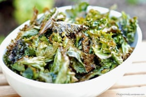 ClaireTweet's salt-and-vinegar kale crisps.