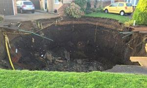 Sinkhole in St Albans