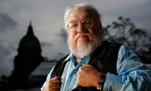 George RR Martin. Photograph: Murdo MacLeod for the Guardian