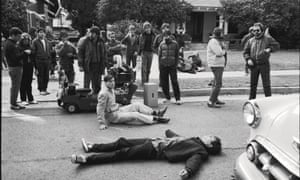 Back to the past ... first day of shooting on the set of Back to the Future. Photograph: Back to the Future™/© Universal Studios and U-Drive Joint Venture
