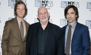 """Directors and writers, Jake Paltrow, Brian De Palma and Noah Baumbach  attend """"De Palma""""  during the 53rd New York Film Festival at Alice Tully Hall, Lincoln Center on September 30, 2015 in New York City."""