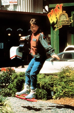 Why has no one marketed the hoverboard yet? Marty test-drives in BTTF2. Photograph: Everett/Rex Shutterstock
