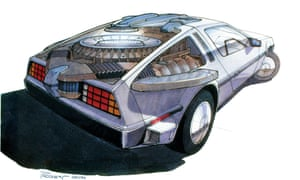 Design for the time-travelling DeLorean, by Andrew Probert.