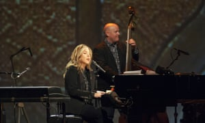 Musically sophisticated ... Diana Krall performs on stage at the Royal Albert Hall.