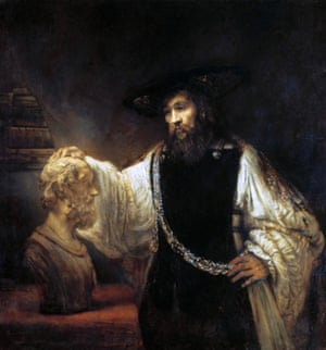 Nearly lost at sea ... Aristotle Contemplating the Bust of Homer by Rembrandt.