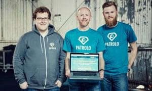 The Patrolo team at TechCrunch Disrupt.