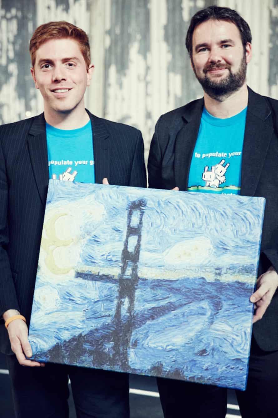 Eric Risser and Neal O'Gorman of Artomatix at TechCrunch Disrupt.