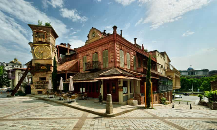 Gabriadze Cafe, nex to the puppet theatre, Tbilisi