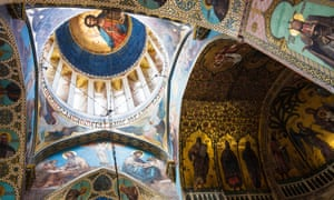 Frescos in Tbilisi's Sioni Cathedral.