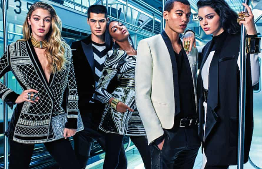 Balmain x H&M 2015 campaign.