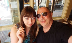 Rhiannon and her father in Amsterdam
