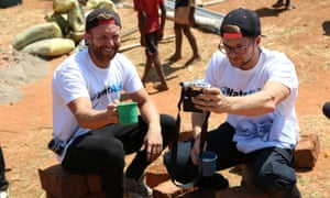 Leon Bustin and John Chapman - aka the Lean Machines - in Zambia at a WaterAid project