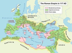The Roman empire in 117CE.