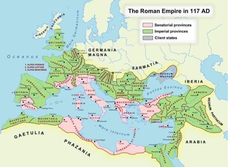 The Roman empire in 117CE.