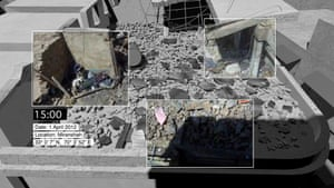 Among the ruins ... Forensic Architecture's image of Miranshah, Pakistan, March 30, 2012.