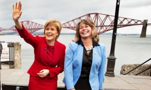 Michelle Thomson MP with Nicola Sturgeon.