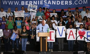Bernie Sanders launched an appeal to Hispanic voters at a rally in Tucson, Arizona.