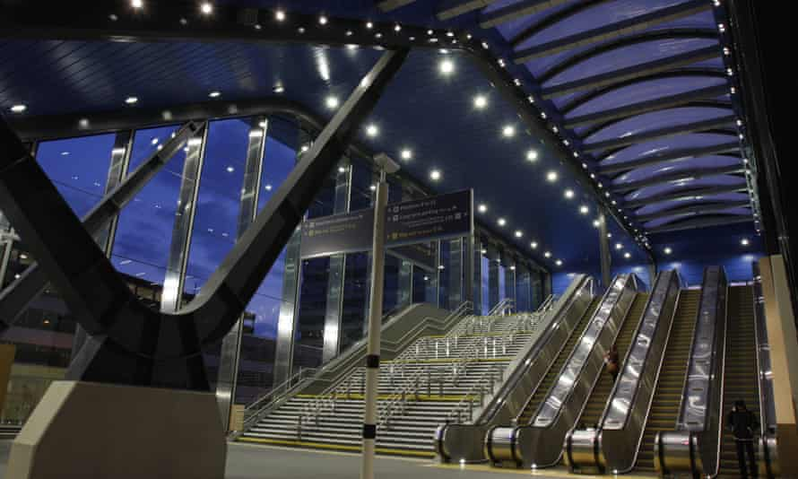 New escalators at Reading station, where the priority was to ease congestion on the tracks, rather than on the concourse.
