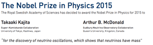 neutrino nobel press release