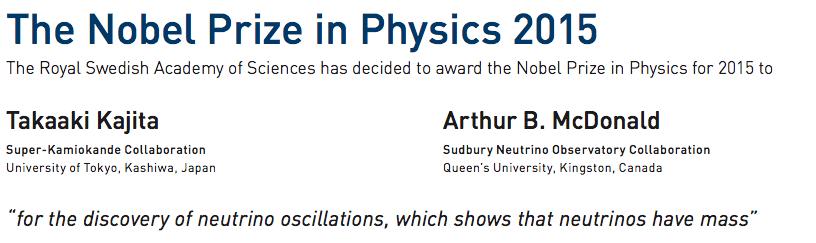 neutrino nobel press release