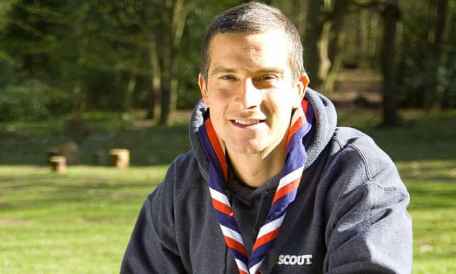 Adventurer Bear Grylls, who serves as Chief Scout