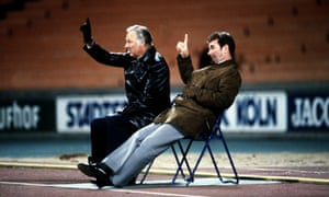 Brian Clough and Peter Taylor during Nottingham Forest's European Cup semi-final in 1979 against Cologne.