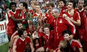 The Nottingham Forest team with the European Cup after their 1-0 victory over Malmo 1979.