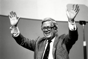 Geoffrey Howe Conservative MP for Surrey East at the Brighton Conference in 1988.