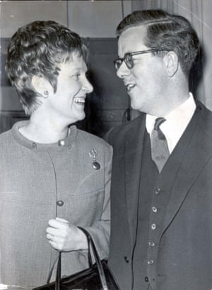 Geoffrey Howe pictured with his wife, Elspeth, in 1968