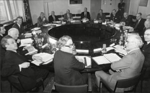 National Economic Development Council Meet at Millbank Tower under Chairmanship of Conservative Politician Sir Geoffrey Howe in1981.