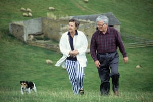 Goeffrey Howe with wife Elspeth and dog in 1994