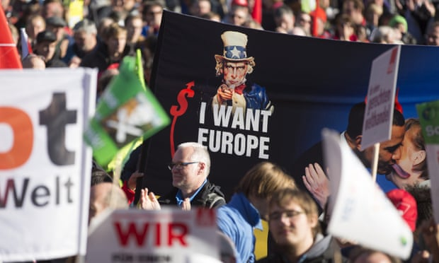 Berlin anti-TTIP trade deal protest attracts hundreds of thousands