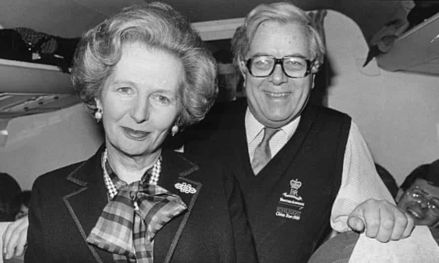 Margaret Thatcher with Geoffrey Howe