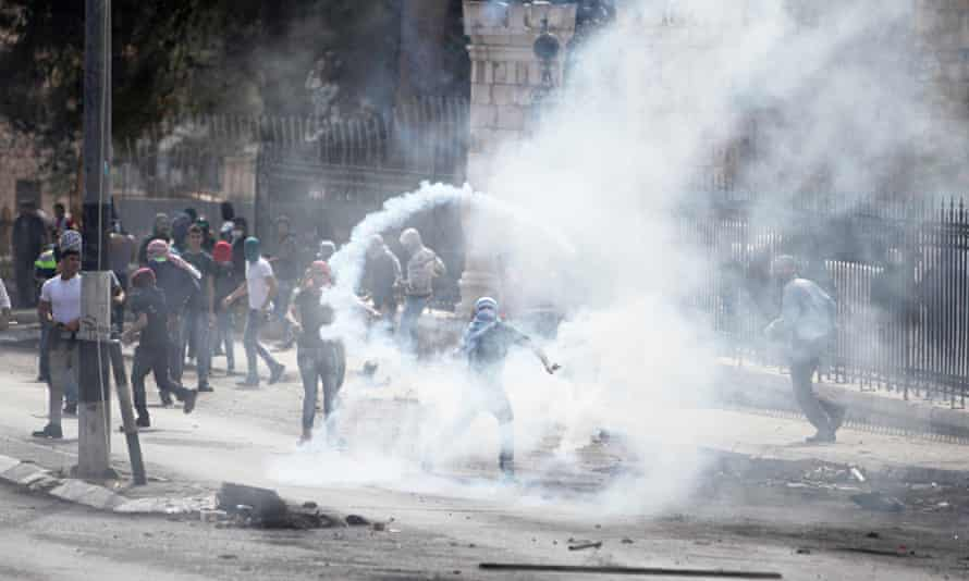 Palestinian Protesters Clash With Israeli Police In Bethlehem
