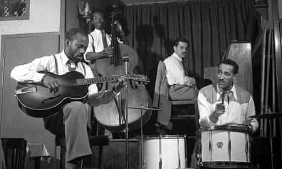 The Ray Ellington Quartet in 1948: from left, Lauderic Caton, Coleridge Goode, Dick Katz and Ray Ellington